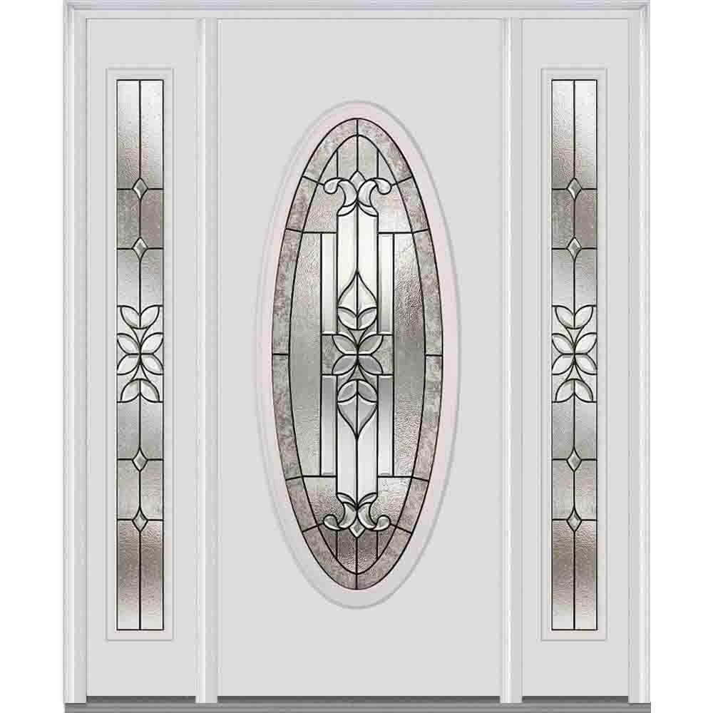 MMI Door 64 in. x 80 in. Cadence Right-Hand Oval Lite Decorative ...