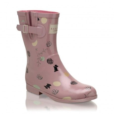 On The Dot,Printed Short Wellie Boot
