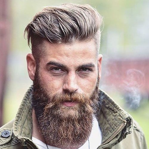Undercut Hairstyle 27 Undercut Hairstyles For Men  Pinterest  Full Beard Undercut