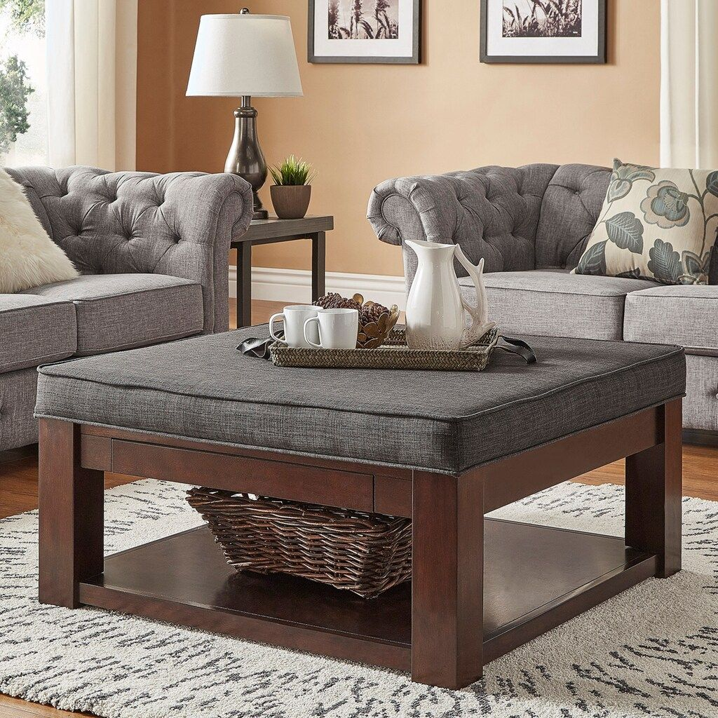 Homevance Upholstered Storage Coffee Table Upholstered Coffee Tables Coffee Table Upholstered Storage [ 1024 x 1024 Pixel ]