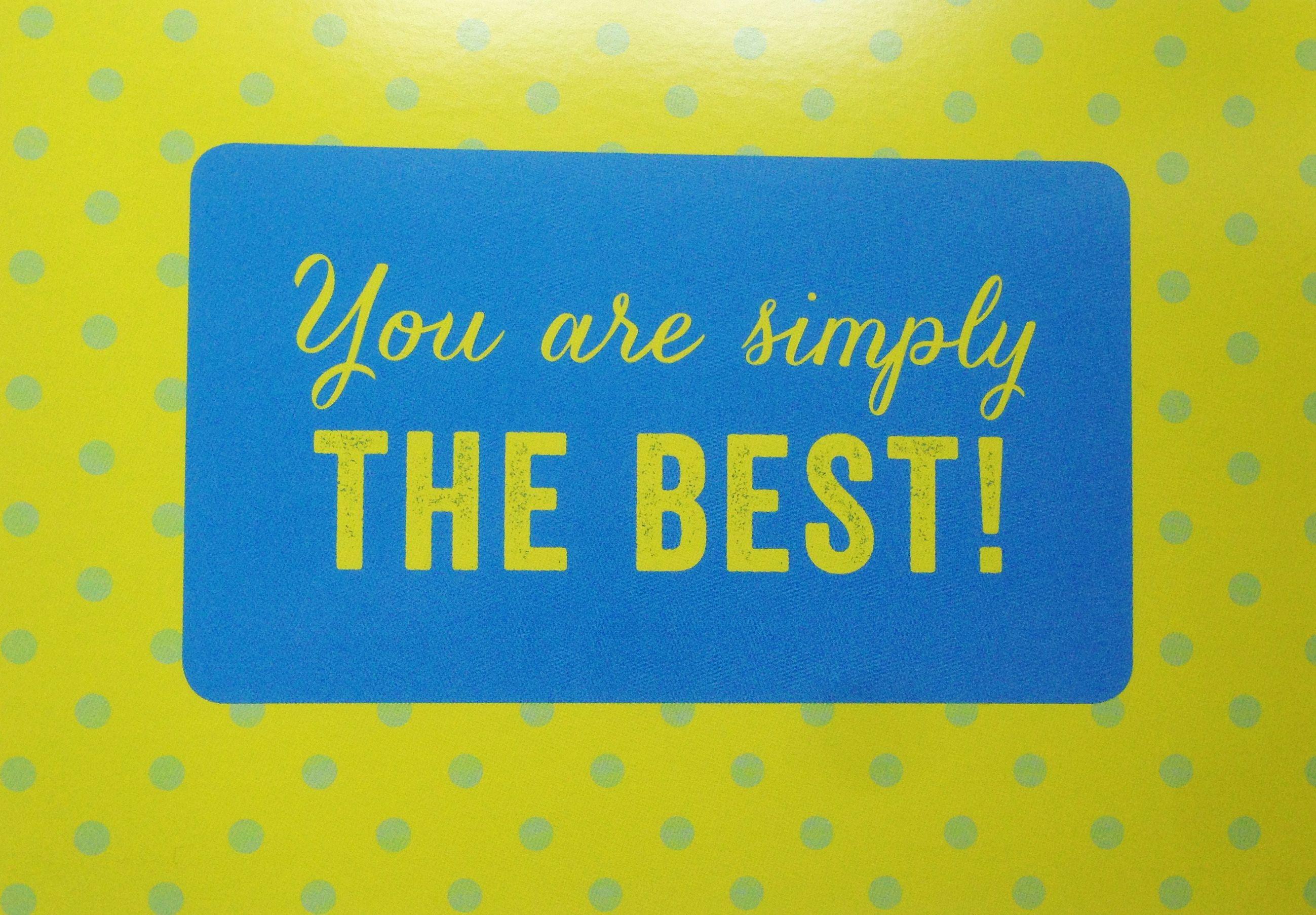 Du Bist Die Beste! Der Beste!