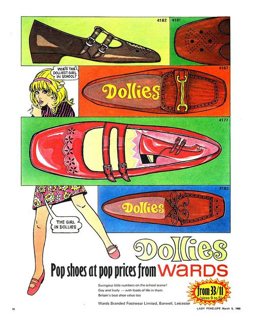 Dollies Wards Shoes 1968 by combomphotos, via Flickr