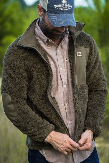 Kodiak Fleece Jacket Birchwood Green | Mens fleece jacket