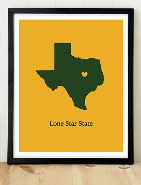 Lone Star state poster -- with #Baylor's colors of course. #SicEm