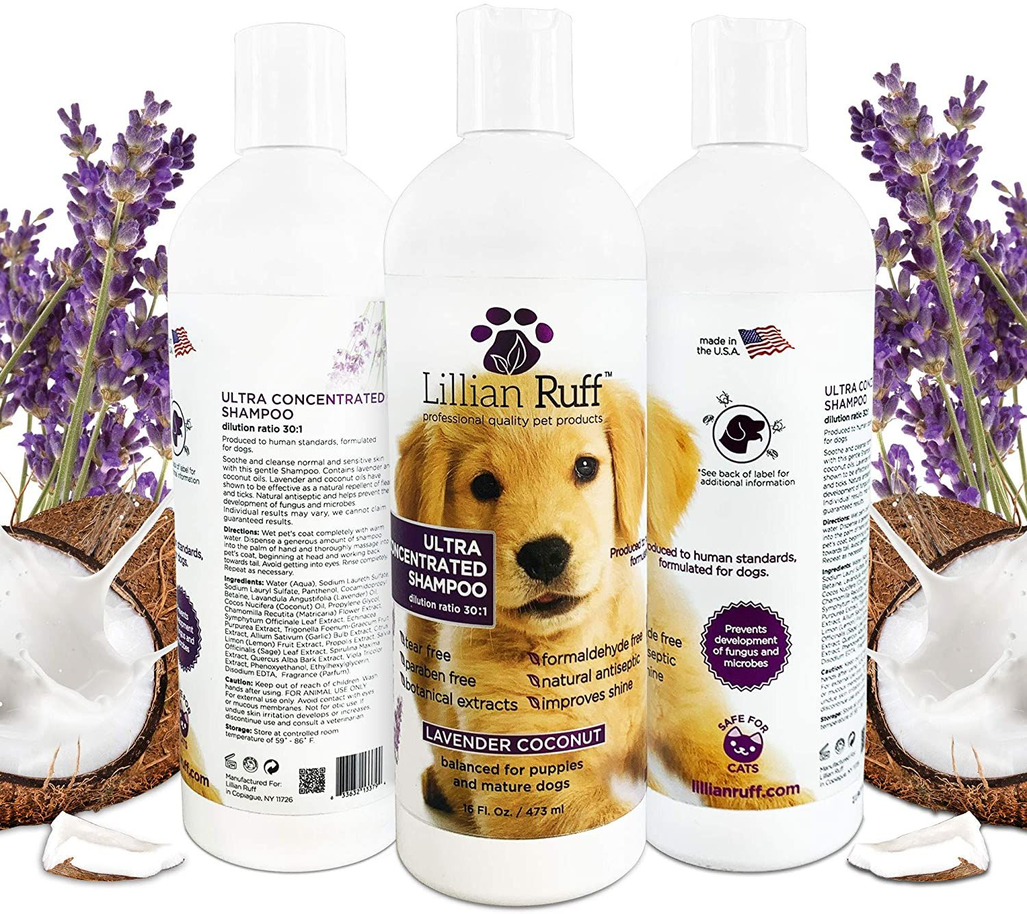 Lovely Fresh Premium Natural Dog Shampoo 3 In 1 Formula With Oatmeal And Neem Relieves Skin Irritation Moisturizes And Conditions Keeps Insects Away For Natural Dog Shampoo Dog Shampoo Oatmeal Dog Shampoo