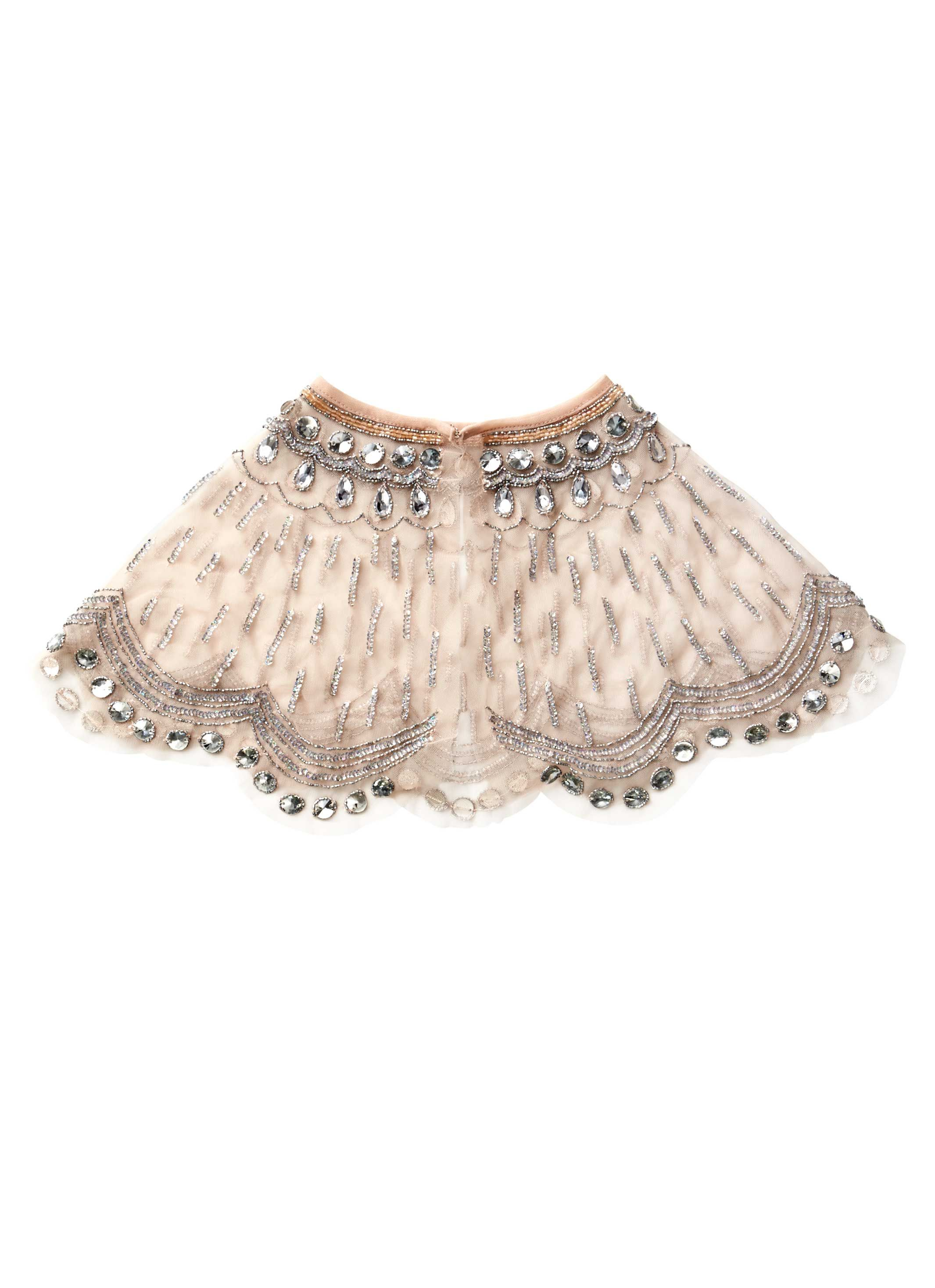 Sparkling and shimmering with a cascade of bead work, with a neckline of vintage-style ribbon and delicately scalloped edging, our Could it Be Magic Cape in Marshmallow is an ethereal piece for girls who love to immerse themselves in the fantasy and make-believe of another time... www.tutudumonde.com