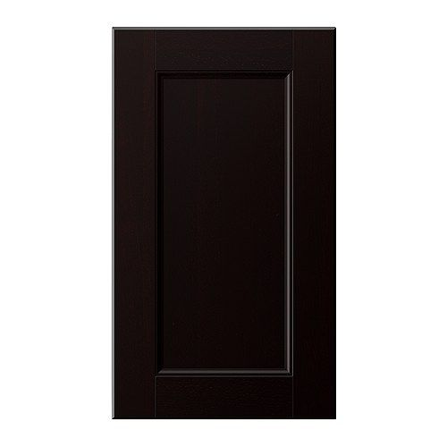 Ramsj door black brown 24x64 ikea homes for Black kitchen cabinet doors