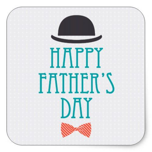 Happy Fathers Day Modern Polka Dots Design Square Sticker | Zazzle.com