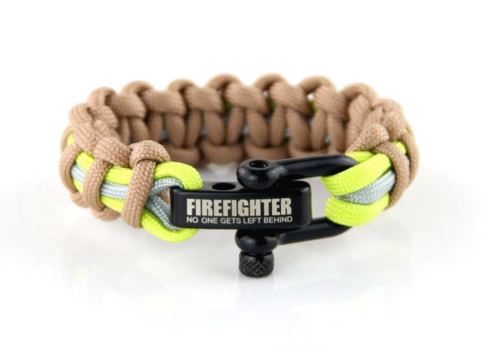 Firefighter Bunker Gear Paracord Bracelet I Support Firefighters