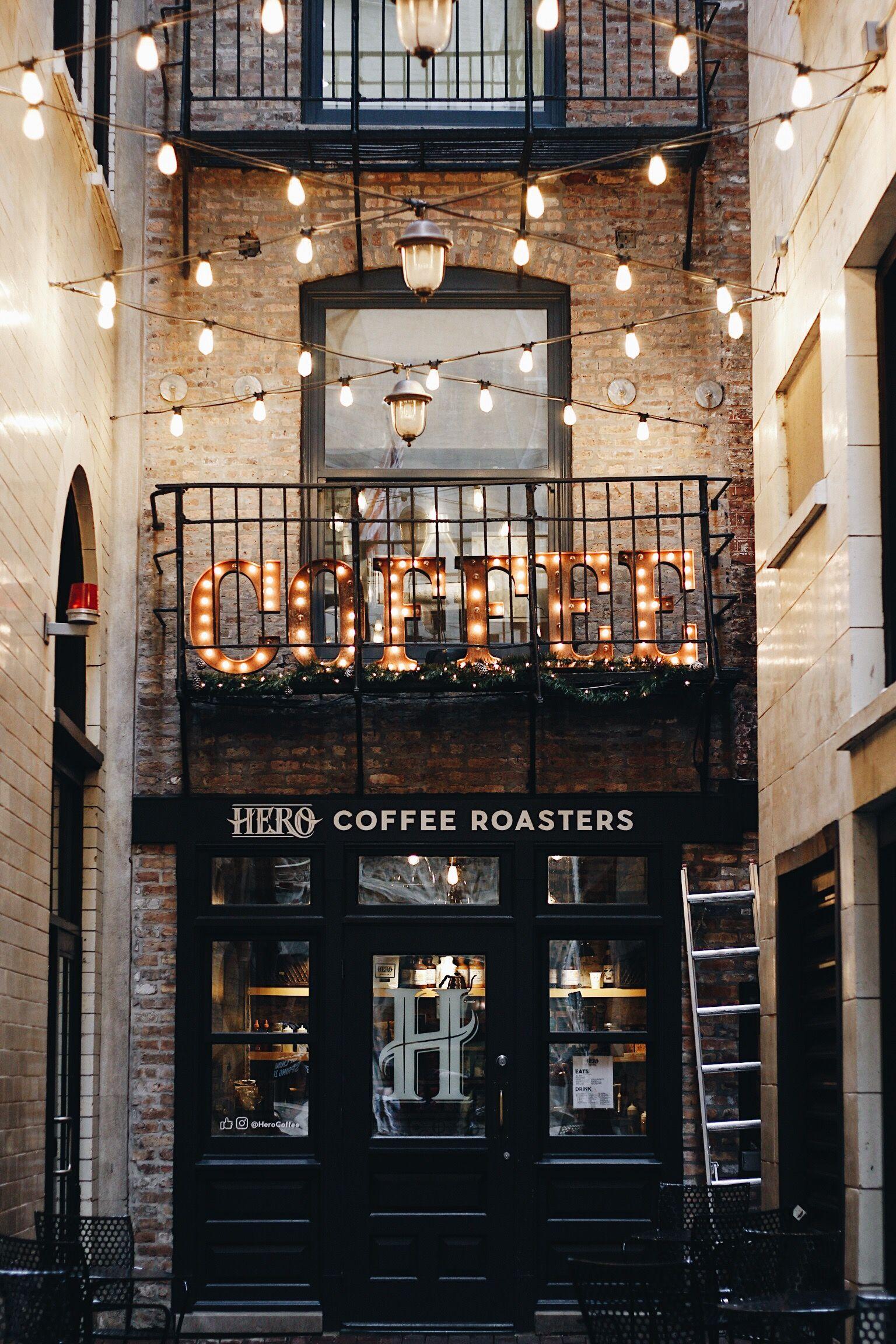 Hero Coffee Chicago Coffee Shop Hero Coffee Chicago Photography Aesthetic City City Lights Coffee Shop Chicago Coffee Shops Coffee Shop Aesthetic