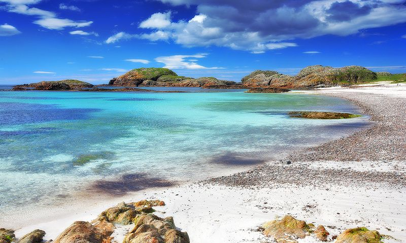West coast of the Isle of Iona, Scotland -I will sit on the beach and look over the ocean