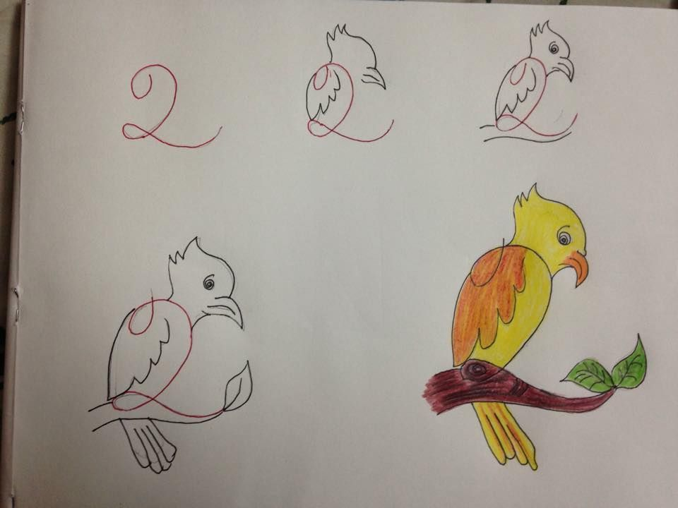 2 fun kids drawings with number as a base - Kids Drawings Images