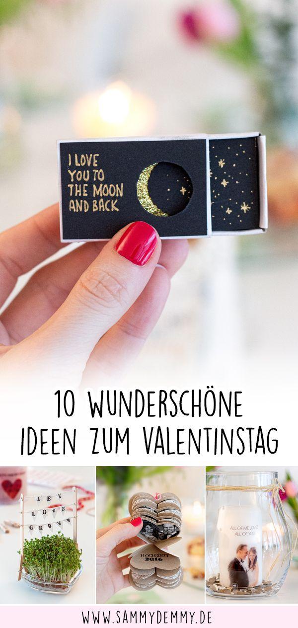 Valentinstag Geschenk für ihn, Streichholzschachtel DIY, Love you to the moon and back, Herz basteln, Basteln Valentinstag, Fotogeschenk Valentinstag