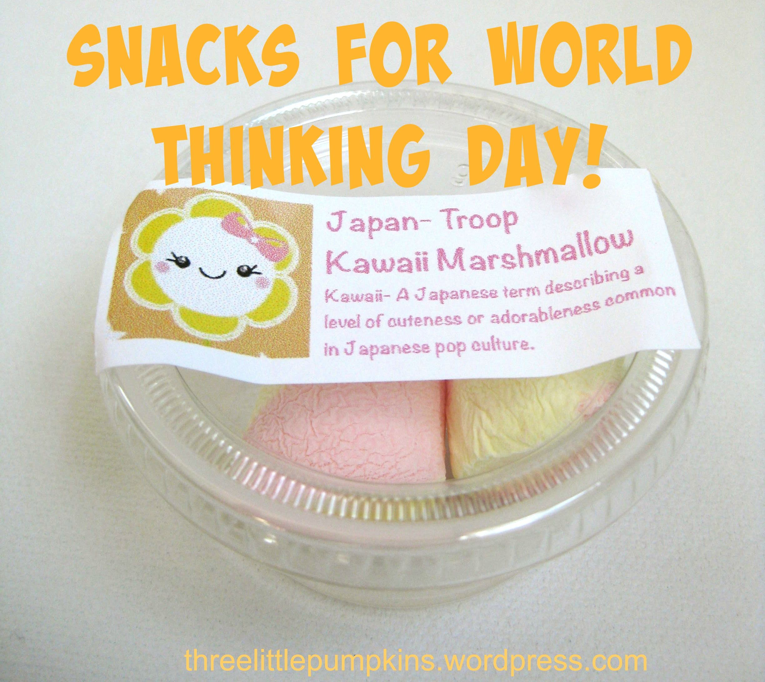Kawaii Style Food For World Thinking Day Japan