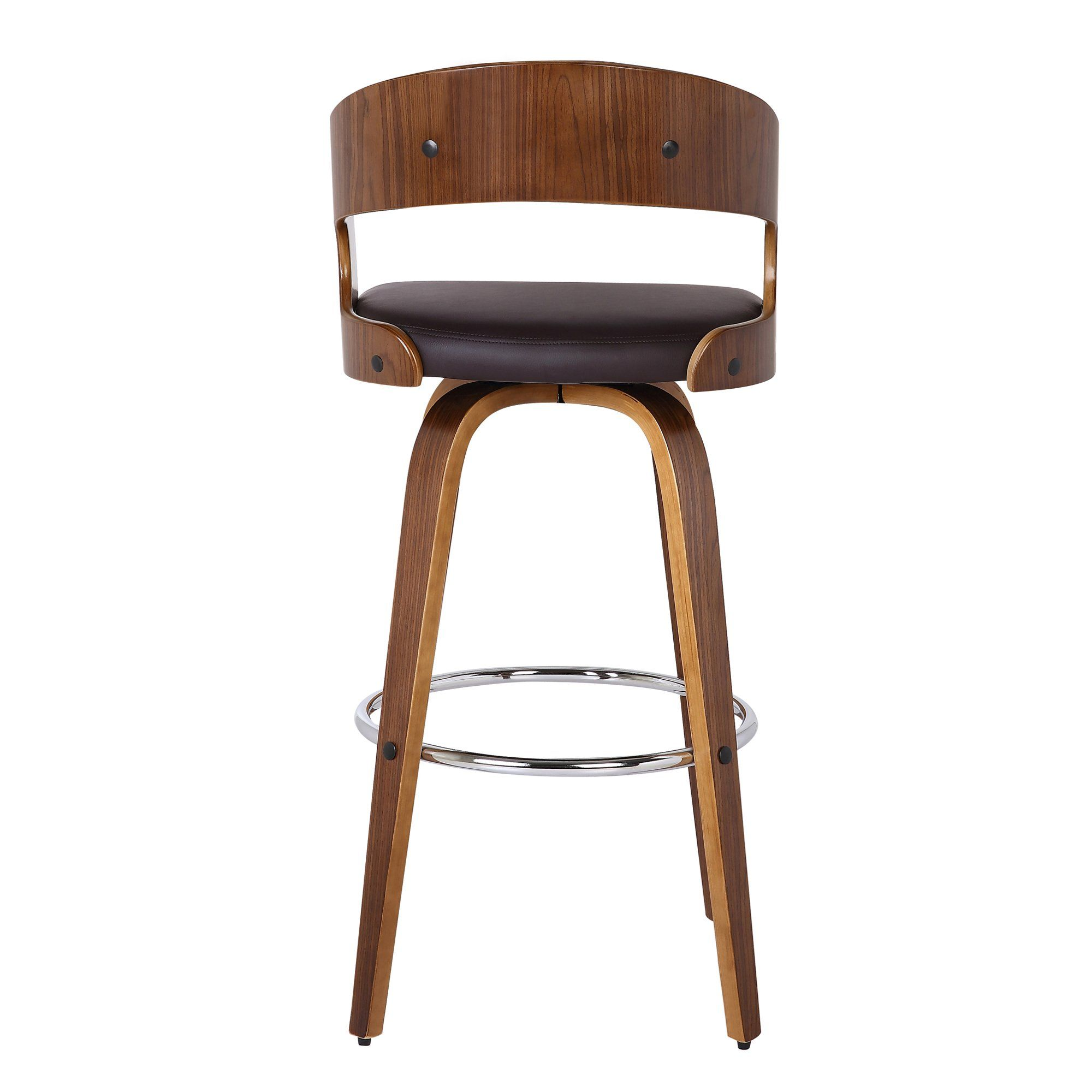 Walnut Brown 26 Inch Counter Height Stool Shelly In 2021 Bar Stools Brown Bar Stools Swivel Bar Stools