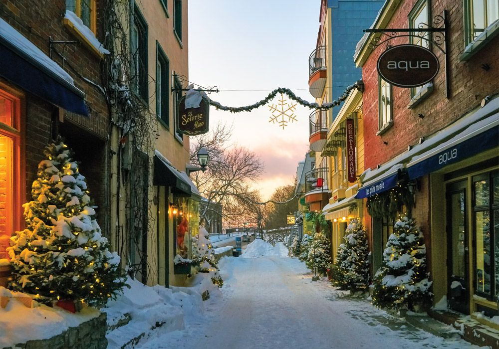 Old Quebec City Christmas Market.Holiday Issue A November December Preview Victoria