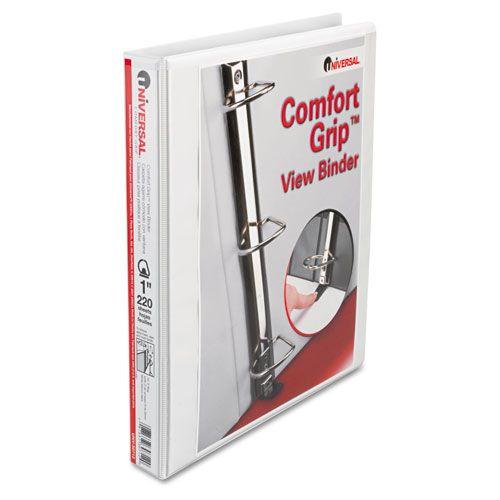 Universal 1 White Comfort Grip Deluxe Plus D Ring Binder Binding Covers D Ring Binder Binder