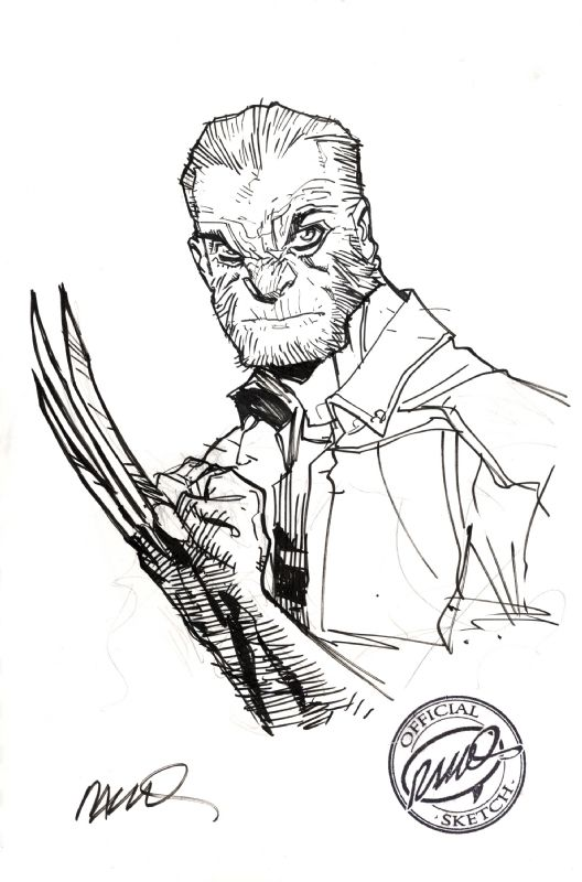 Old Man Logan commission by Humberto Ramos