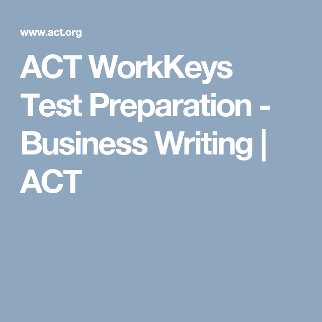 free business writing assessment test