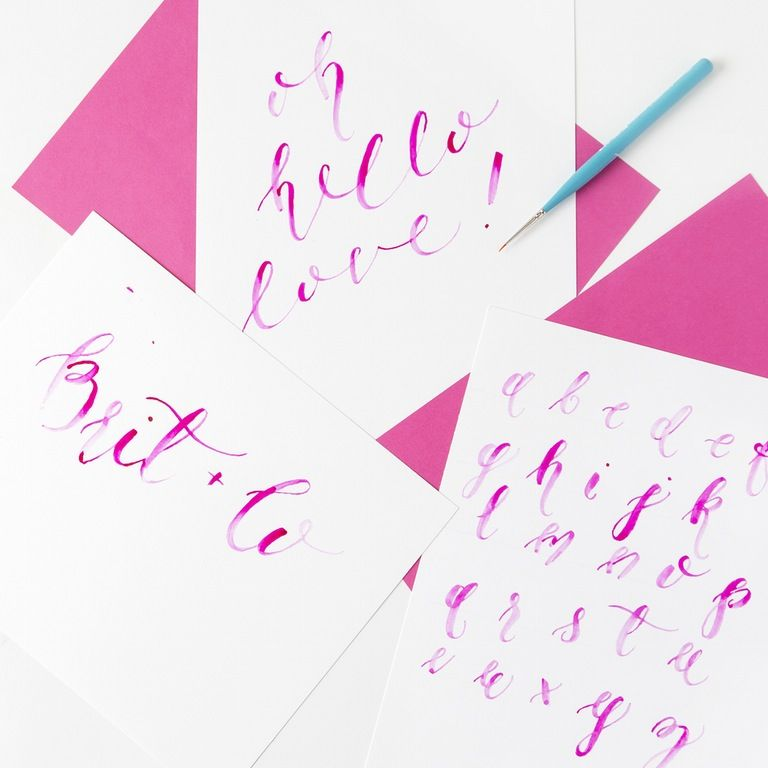 Brush Calligraphy Online Class | Brit + Co. Shop | DIY Online classes, DIY kits and creative products from makers you'll love.