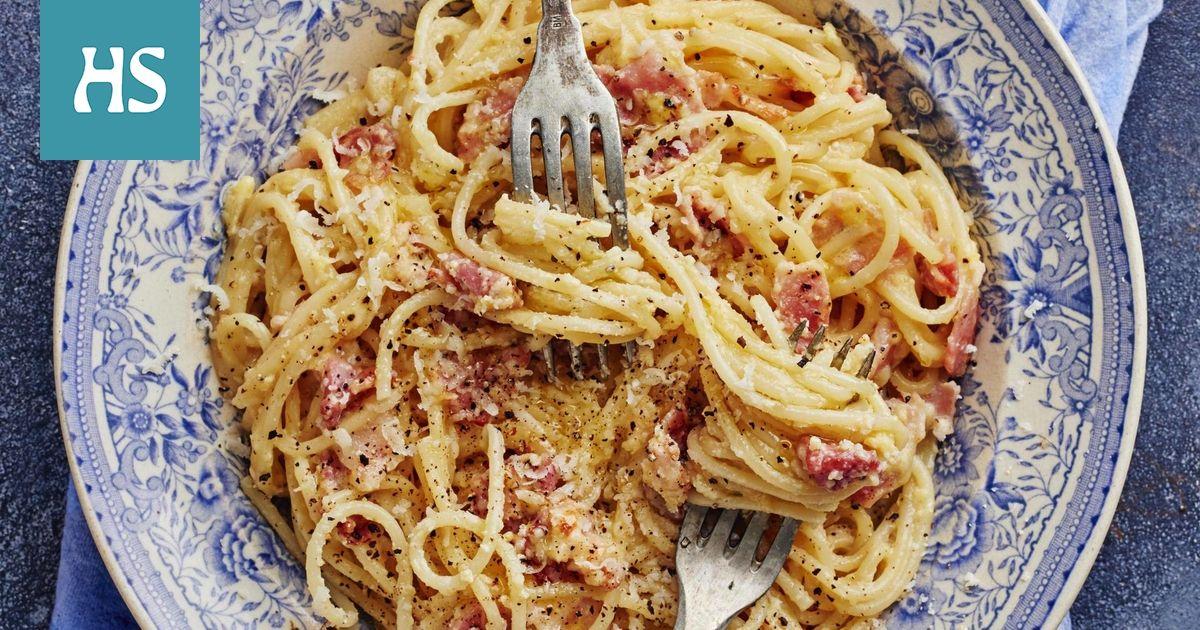Pasta Carbonara Resepti