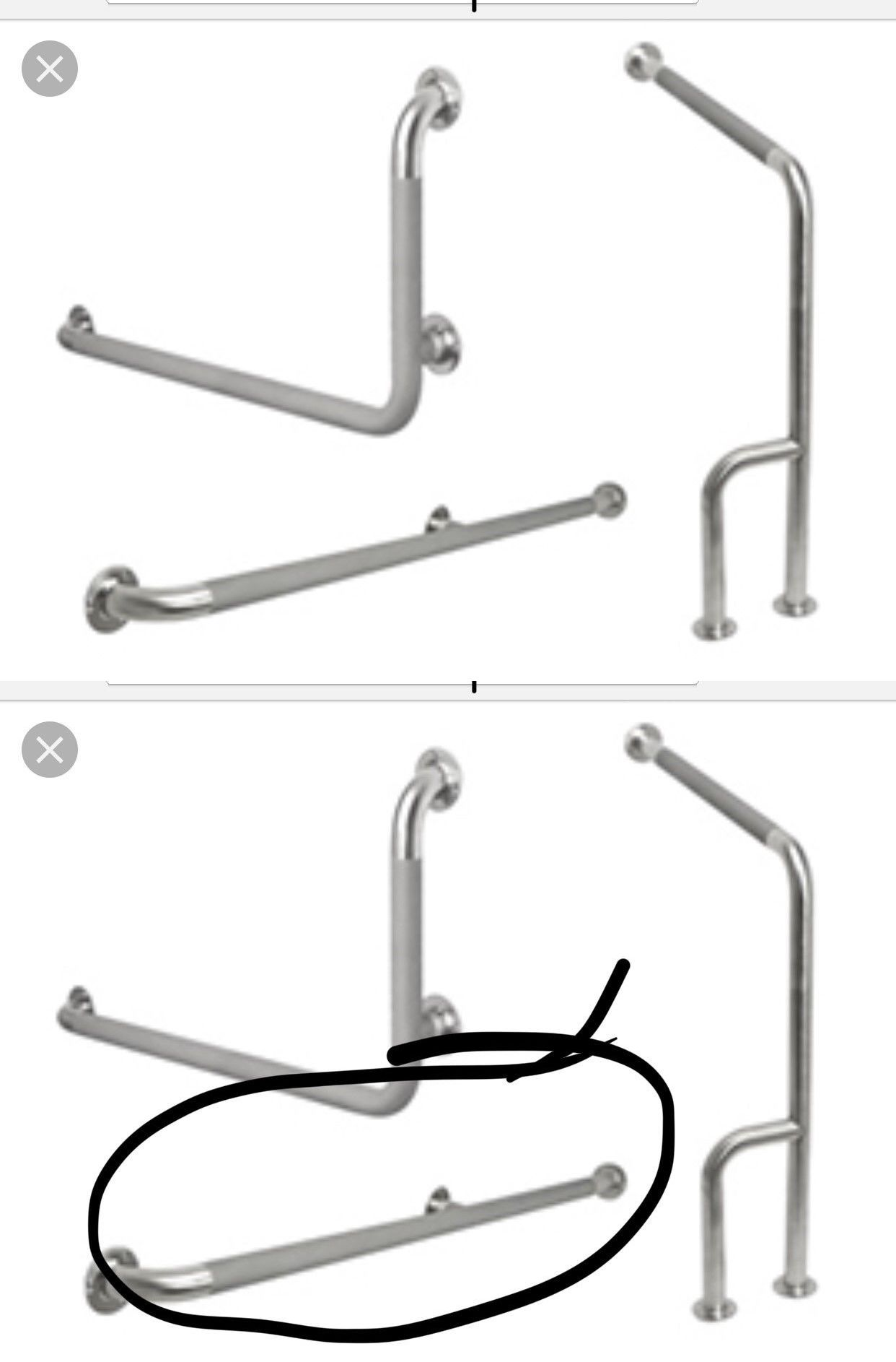 Handles And Rails 171537: Handicap Grab Bar Bathtub Bathroom Accessories  Shower Safety 36 Inch With Middle  U003e BUY IT NOW ONLY: $24 On EBay!