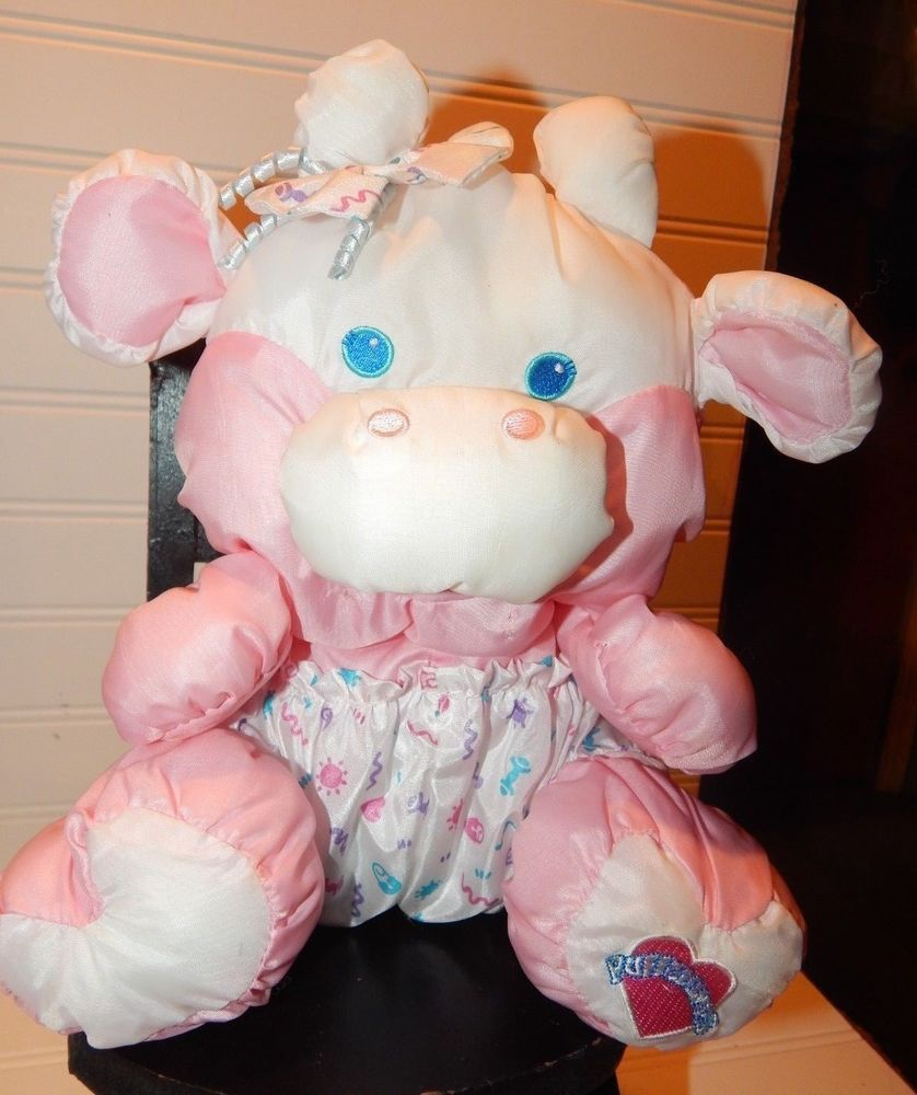 Fisher Price Puffalump Care For Me Pink Cow Plush Lovey Missing