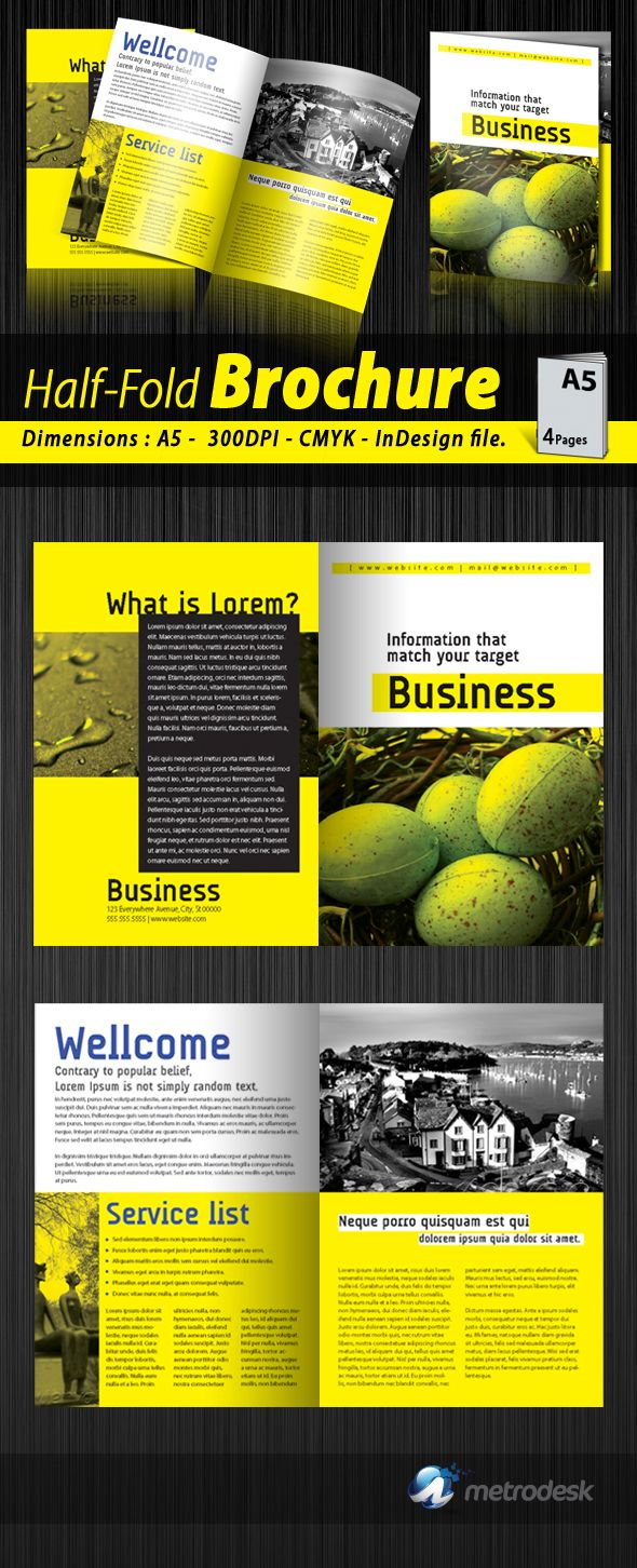 A Half Fold Corporate Brochure  Brochure Design