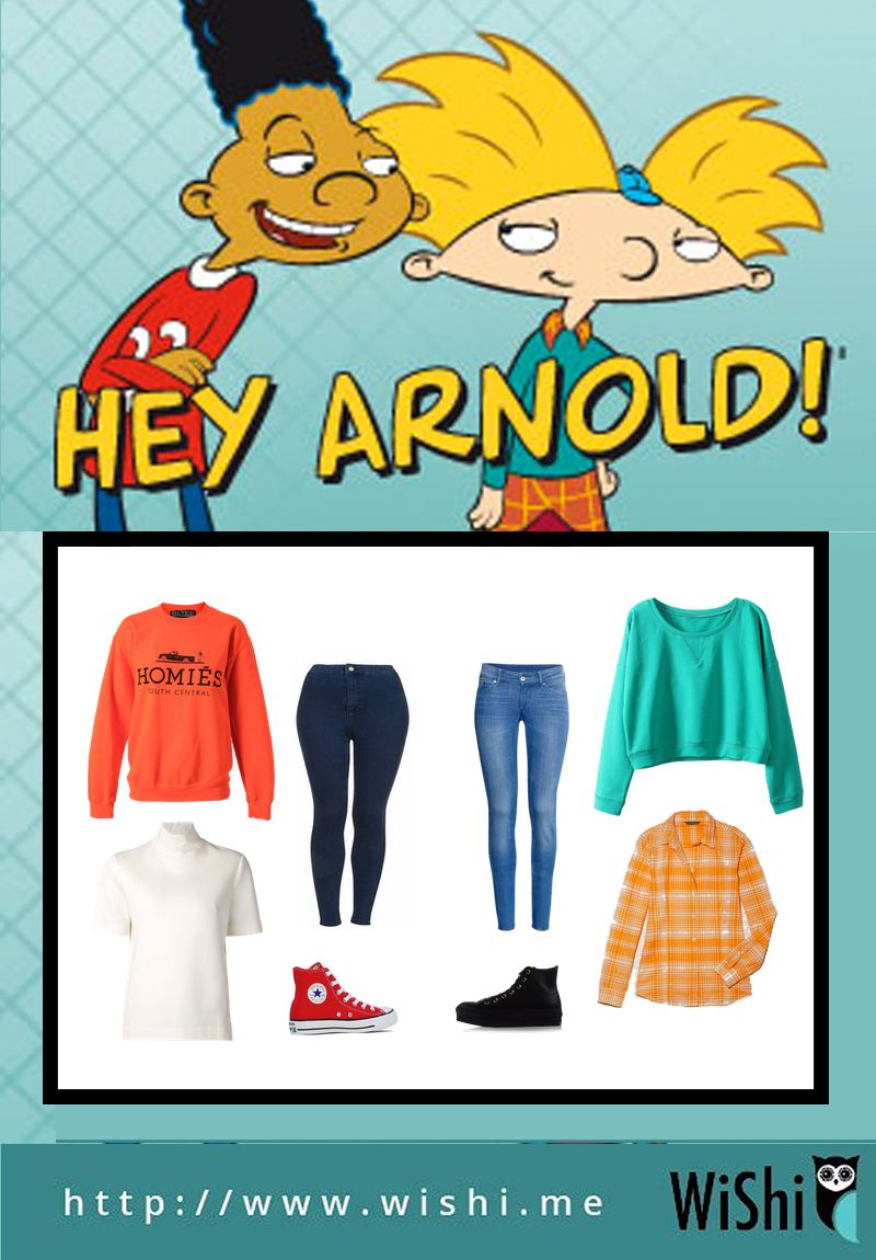 As A 90s Kid We Loved Nickelodeon You Can Dress Up As Hey Arnold And Gerald This H Cartoon Halloween Costumes Mens Halloween Costumes 90s Halloween Costumes