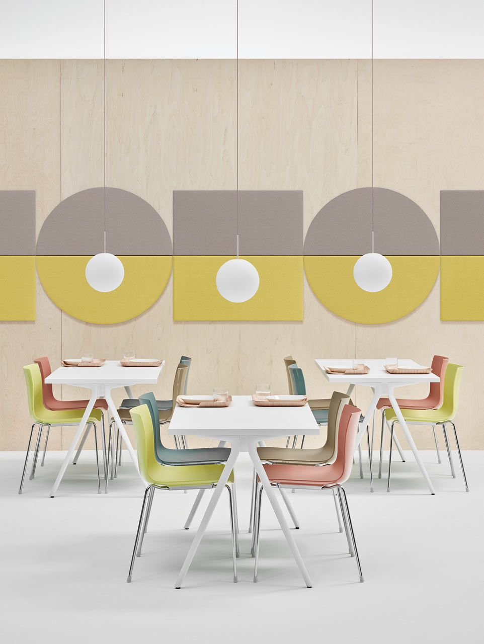 Geometric Acoustic Wall Panels by Arper | Acoustic panels, Acoustic ...