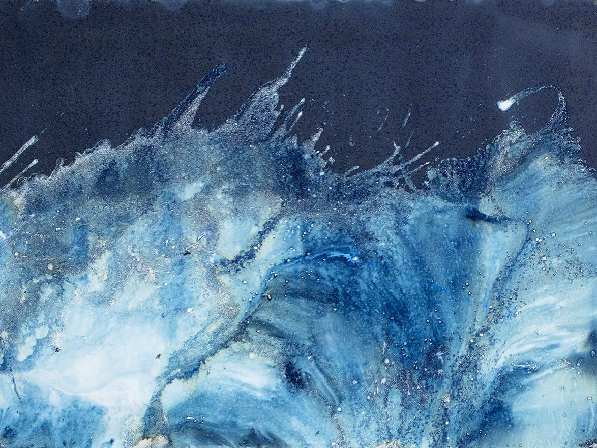 Seascapes Without A Camera Meghann Riepenhoff S Cyanotypes