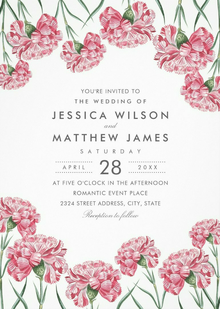 Elegant Vintage Floral Wedding Invitations Classic Romantic Wedding Invitations Classic Wedding Invitations Pink Wedding Invitations Wedding Invitations Romantic