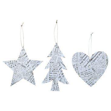 Ornamente aus Zeitung