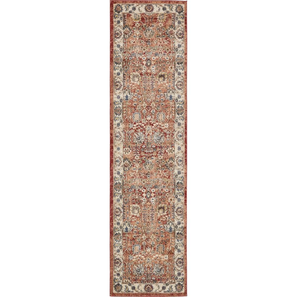 Unique Loom Utopia Antheia Terracotta 2 7 X 10 0 Runner Rug 3135303 Floral Area Rugs Area Rugs Rugs