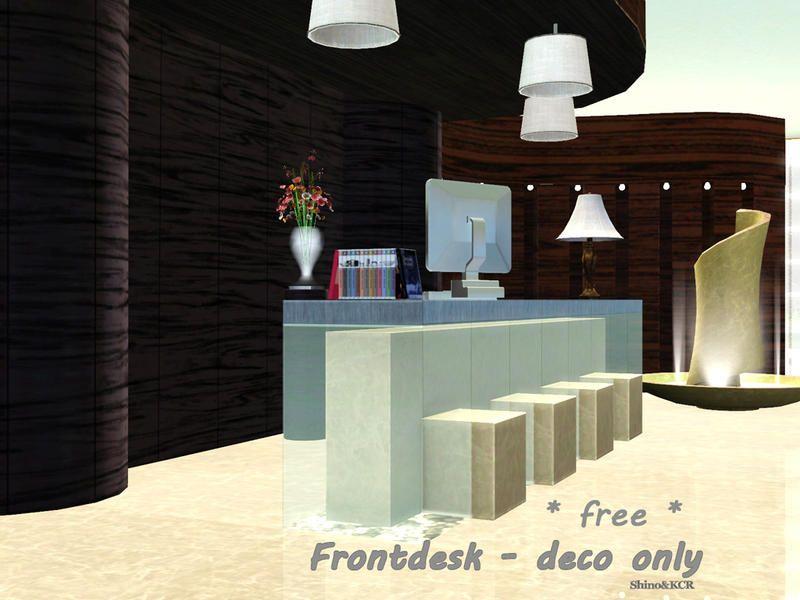 Shinokcr S Front Desk For Basegame Front Desk Paradise Island Lobby