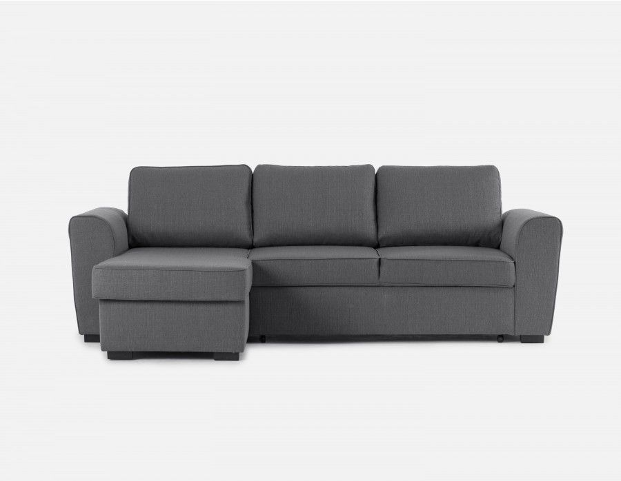 Grey interchangeable sectional sofa bed with storage Canape rangement integre