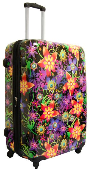 """30 Funky And Trendy Nail Art Designs For 2014: Funky Floral Burst 30"""" Spinner Luggage. Made From Hardside"""