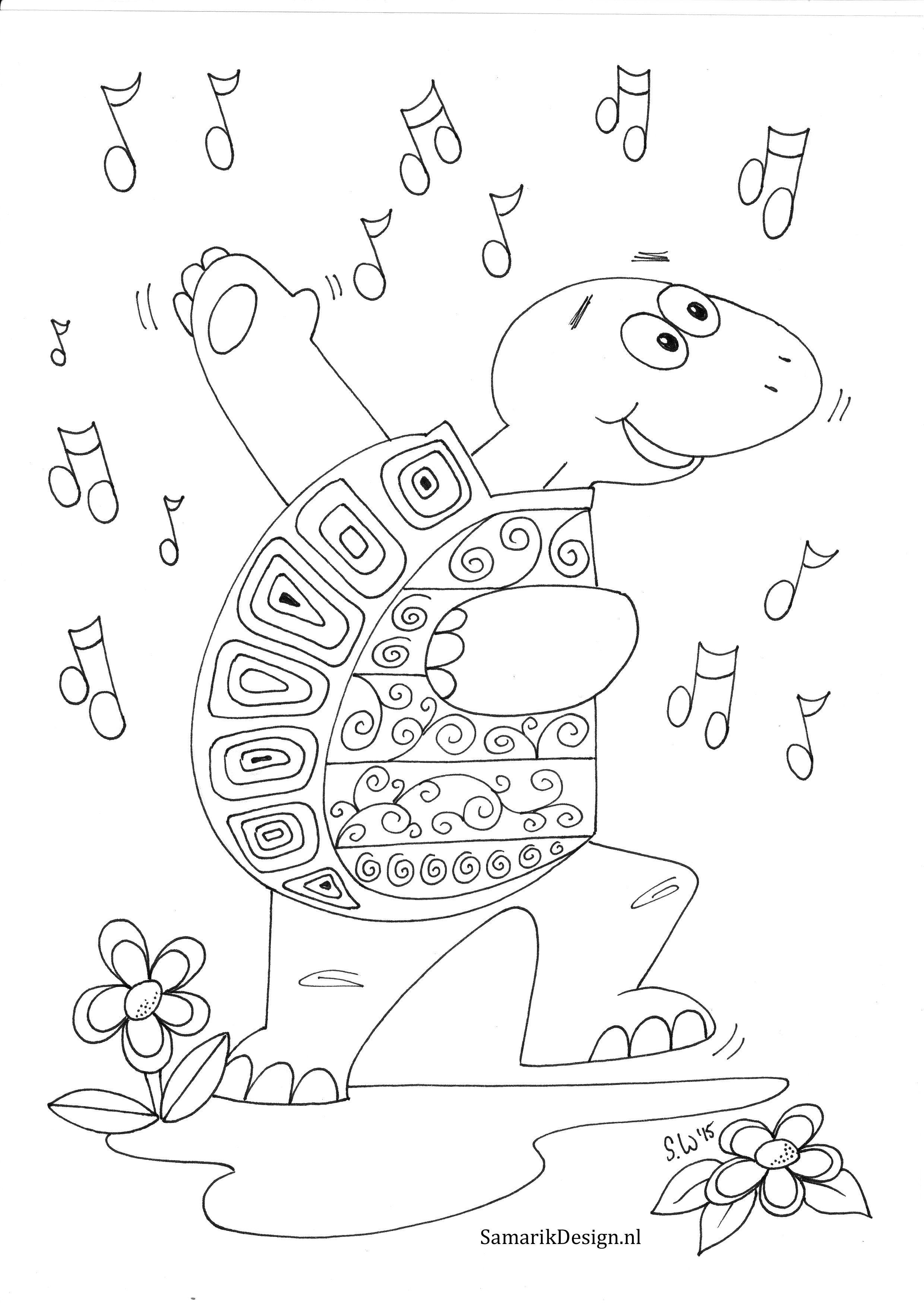 Kleurplaten Voor Volwassenen Schildpad.Kleurplaat Voor Volwassenen Schildpad Sandy Wijsbeek Kleurplaten