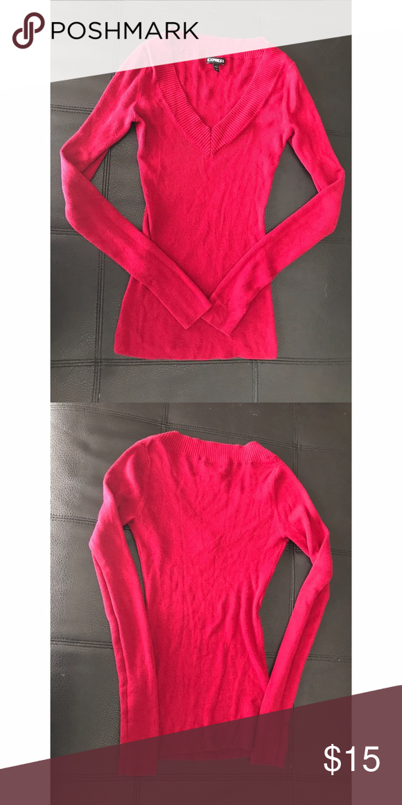 Express sweater, size XS | It is, Hot pink sweater and Hot pink