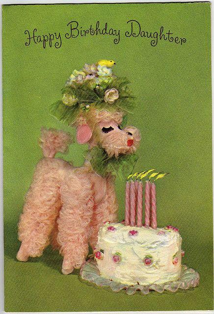 Birthday Poodle Kitsch Pinterest Caniche Anniversaire And Chien