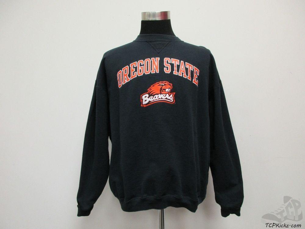 TCX Oregon State St Beavers Crewneck Sweatshirt sz 2XL 2 Extra Large NCAA Black #TCX #OregonStateBeavers