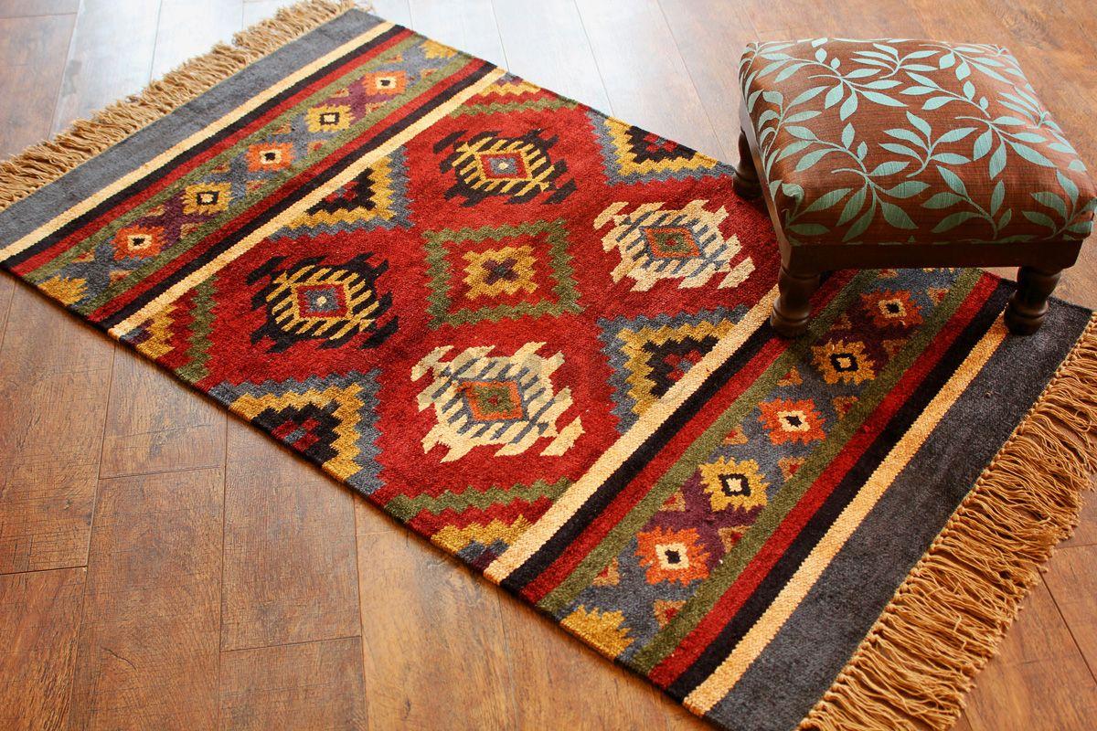 Hand Woven Traditional Indian Kilim Rug