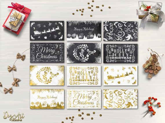 REPIN NOW for later! Christmas Tags Printable Holiday Gift Tags 12 Christmas Labels Printable Christmas Gift Tags Chalkboard Gold foil Gift Bag Tag Digital File by DigartDesigns