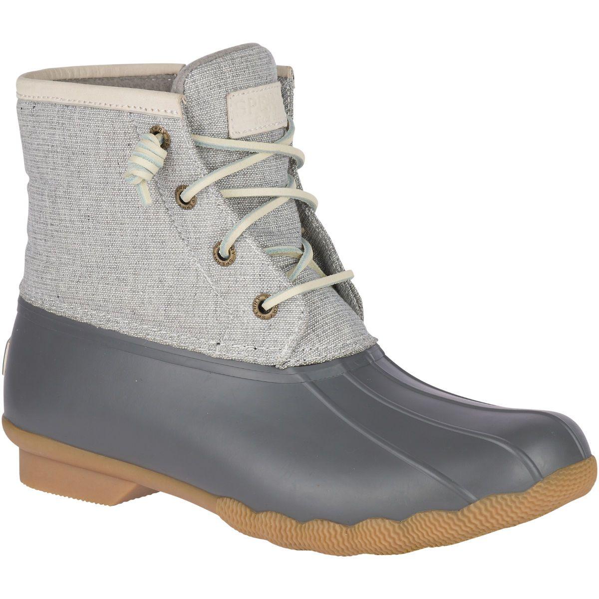Saltwater Metallic Duck Boot Grey