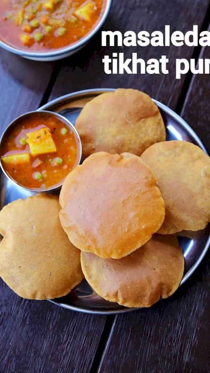 masala poori recipe | tikhat poori | tikhi puri |