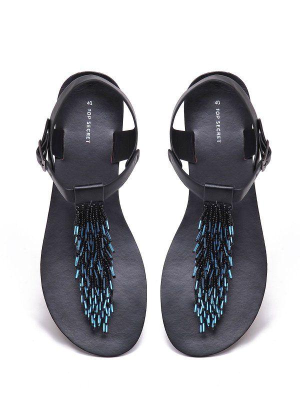 Buty Damskie Czarne Sbu0502 Sandaly Top Secret Odziezowy Sklep Internetowy Top Secret Shoes Fashion Flip Flops