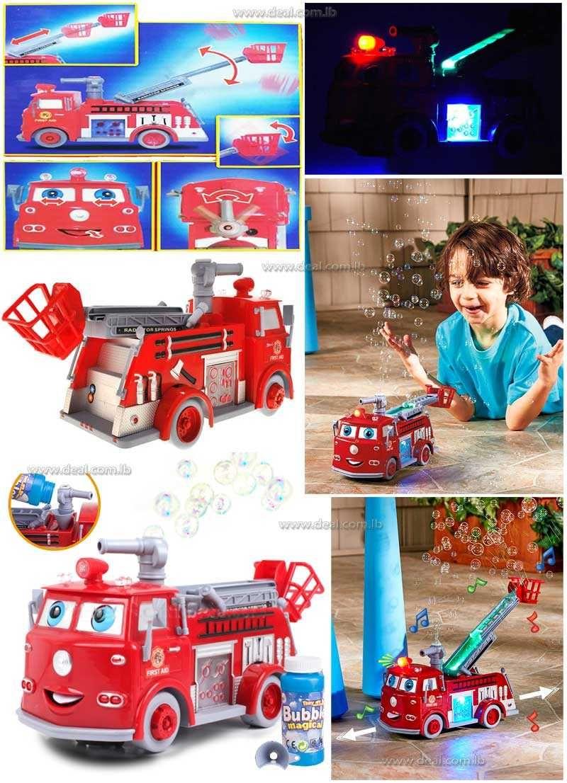 Fire Truck Pumper Go Bubble Vehicles Toy Fire trucks