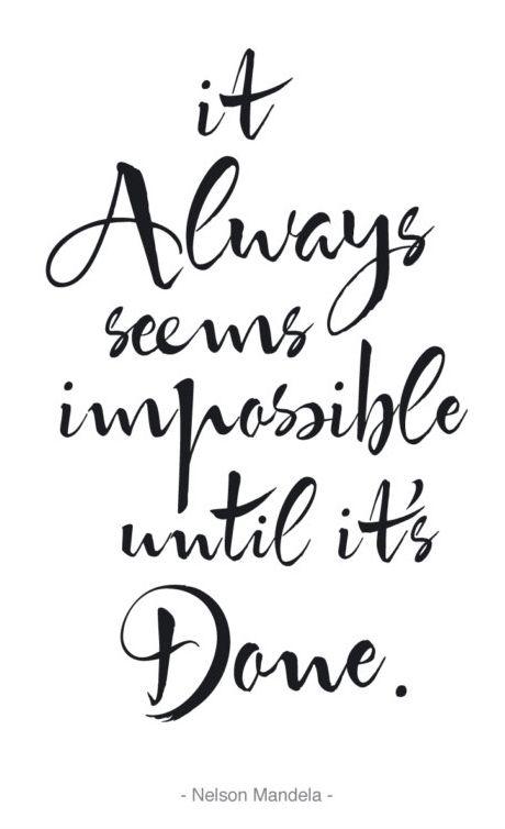 Motivational Inspirational Poster / It Always Seems