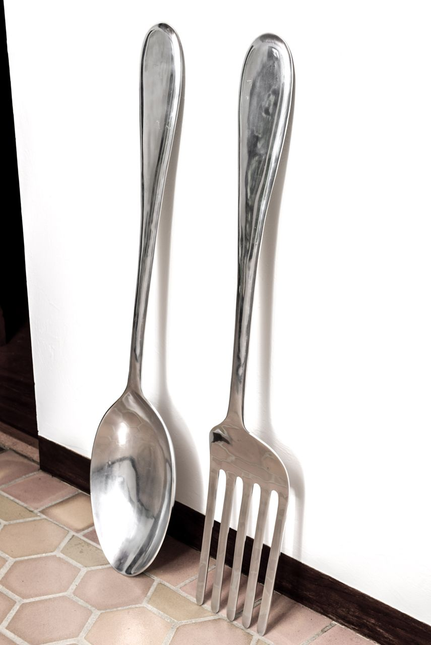 1stdibs | Large Fork And Spoon Wall Hanging