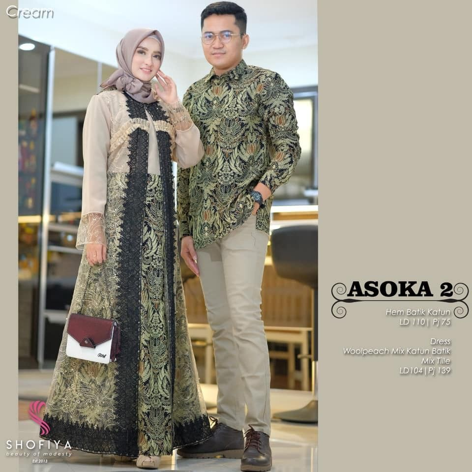 Model Baju Batik Solo Couple Gamis Asoka Rendra  Batik Bagoes
